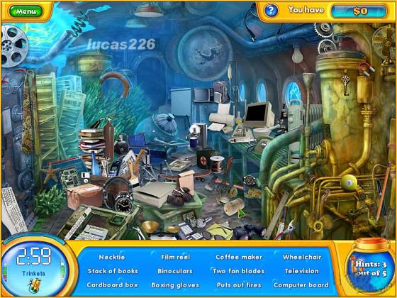 Fishdom H2O Hidden Odyssey Windows Submersed room.